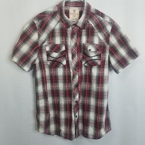 Route 66 Western Style Button Down Short Sleeve